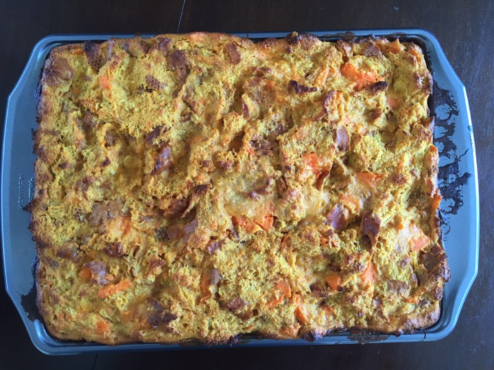 Sweet Potato Praline Bread Pudding is the most delicious and decadent Southern dessert that is perfect for Thanksgiving dinner. Recipe by Dash of Jazz