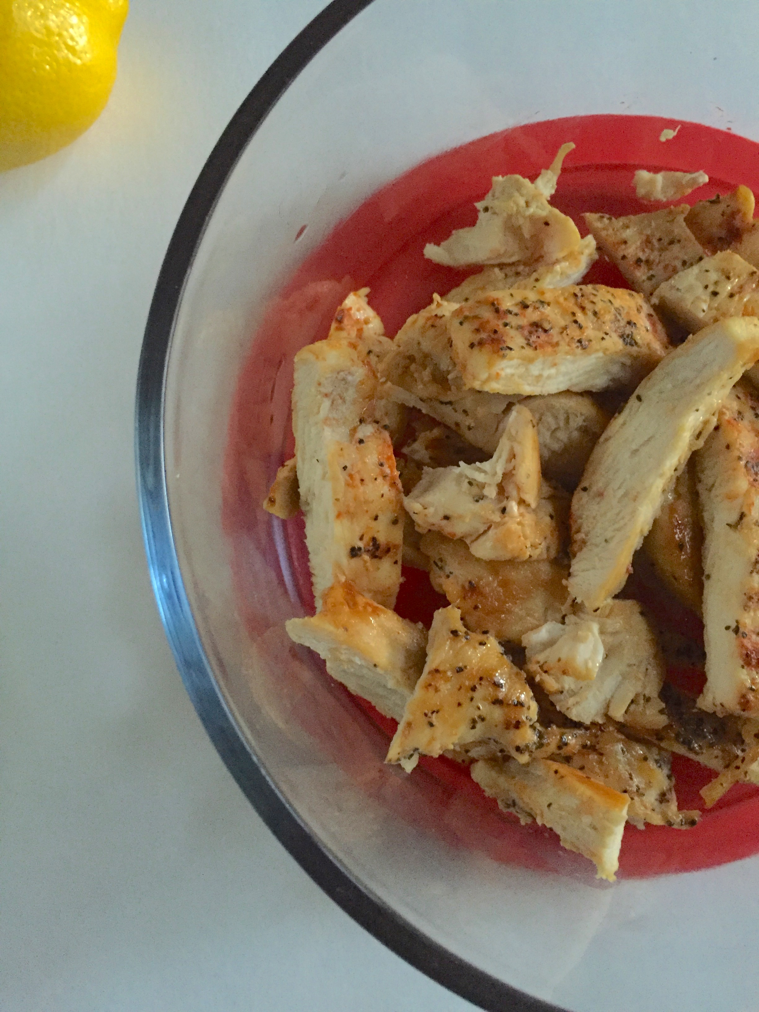 cooked and sliced chicken breast